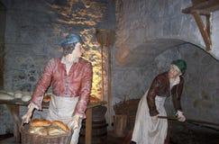 Keuken die in Stirling Castle plaatsen royalty-vrije stock afbeelding