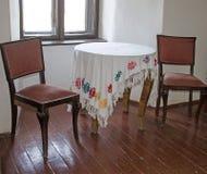 Keuken in een retro stijl Stock Foto's