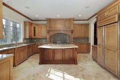 Keuken in eigentijds huis Royalty-vrije Stock Foto's