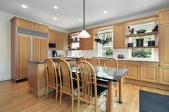 Keuken en het eten van gebied Stock Foto