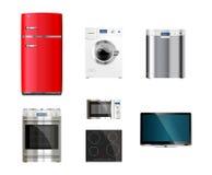 Keuken en huistoestellen Stock Afbeelding