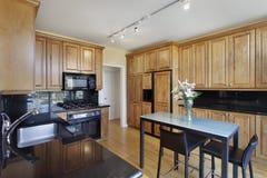 Keuken in flateenheid Stock Foto
