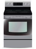 Keuken, geïsoleerd Fornuis, staal, vector, illustratie Stock Afbeelding