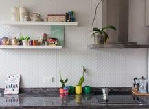 Keuken goede Vibes stock afbeeldingen