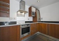 Keuken in houten afwerking Royalty-vrije Stock Fotografie