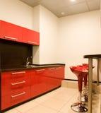 Keuken met een staaf Stock Afbeelding