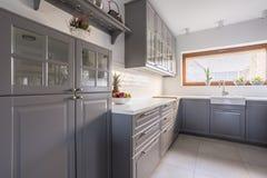 Keuken met fruit stock fotografie