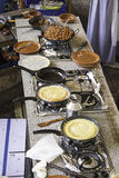 Keuken met omeletten Stock Afbeelding