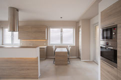 Keuken met teller stock foto