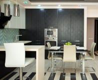 Keuken in moderne stijl Stock Afbeelding