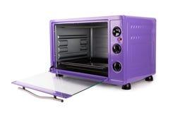 Keuken purpere oven stock afbeelding