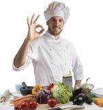 Keuken van deskundige chef-kok royalty-vrije stock foto