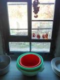 Keuken van een oud huis in Duitsland Stock Fotografie