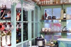 Keuken van kattenmuseum Stock Foto