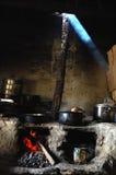 Keuken van tibetan restaurant royalty-vrije stock afbeeldingen
