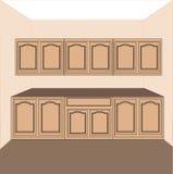 Keuken-wasserij kabinetten, vector Royalty-vrije Stock Foto