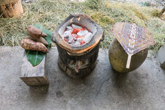 Keukenfaciliteiten in platteland Stock Fotografie