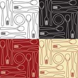 Keukengerei - naadloos patroon Royalty-vrije Stock Afbeeldingen