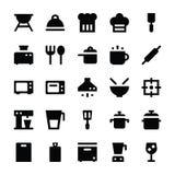 Keukengerei Vectorpictogrammen 1 Royalty-vrije Stock Afbeeldingen