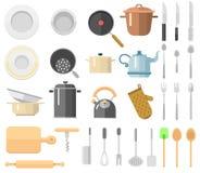 Keukengerei vectorreeks royalty-vrije illustratie