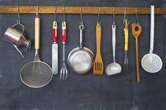Keukengerei, voor commerciële keuken, restaurant, het koken, k stock fotografie
