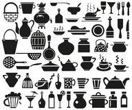 Keukengereipictogrammen Royalty-vrije Stock Foto