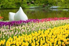 Keukenhof庭院,荷兰 免版税库存图片