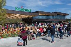 Keukenhof entrance building, Lisse, The Netherlands royalty free stock photography