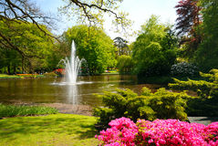 Keukenhof fountain Stock Photo