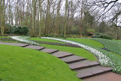Keukenhof-Gärten in den Niederlanden Stockbild