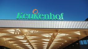Keukenhof, Lisse Netherland May 2018: Entrance to one of the most famous flower parks in Europe - Keukenhof. The most famous flower park in Europe is Keukenhof stock video