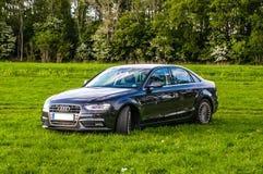 KEUKENHOF OLANDA - MAI 2014: Audi A4 sul prato verde Fotografia Stock