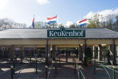 Keukenhoff Nederländerna - April 17: Keukenhoffen Tulip Garden Royaltyfri Bild