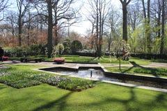 Keukenhofpark in Nederland Stock Afbeelding