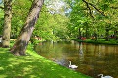 Keukenhoftuin, Nederland - Mei 10: Kleurrijke bloemen en bloesem in Nederlandse de lentetuin Keukenhof die de werelden larges is Stock Foto's