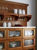 Keukenkast voor schotels Royalty-vrije Stock Afbeelding