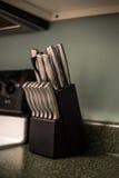 Keukenmessen Stock Foto's