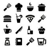 Keukenpictogrammen Royalty-vrije Stock Afbeeldingen