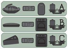 Keukenpictogrammen voor zoet voedsel Royalty-vrije Stock Afbeeldingen
