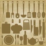 Keukenpunten voor het koken Stock Foto