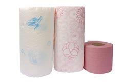 Keukenrollen en toiletpapier Royalty-vrije Stock Fotografie
