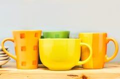 Keukenschotels stock fotografie