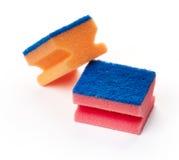 Keukensponsen voor wasschotels Royalty-vrije Stock Afbeelding
