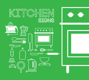 Keukentekens Stock Foto