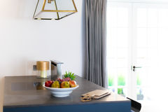 Keukenteller en Venster Stock Foto