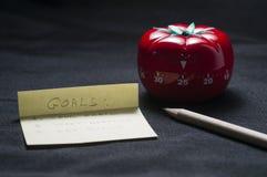 Keukentijdopnemer voor het koken en het werken royalty-vrije stock afbeelding