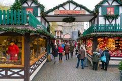 Keulen - Kerstmismarkt stock afbeelding