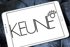 Keune haircare company logo. Logo of Keune haircare company on samsung tablet. Keune has developed into a multinational, specializing in high quality stock images