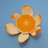 Keurig gepelde sinaasappel royalty-vrije stock afbeelding