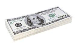 Keurige stapel bankbiljetten Royalty-vrije Stock Afbeelding